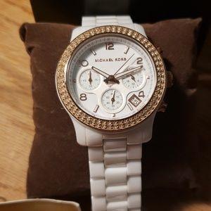 Women's, white, Michael Kors watch